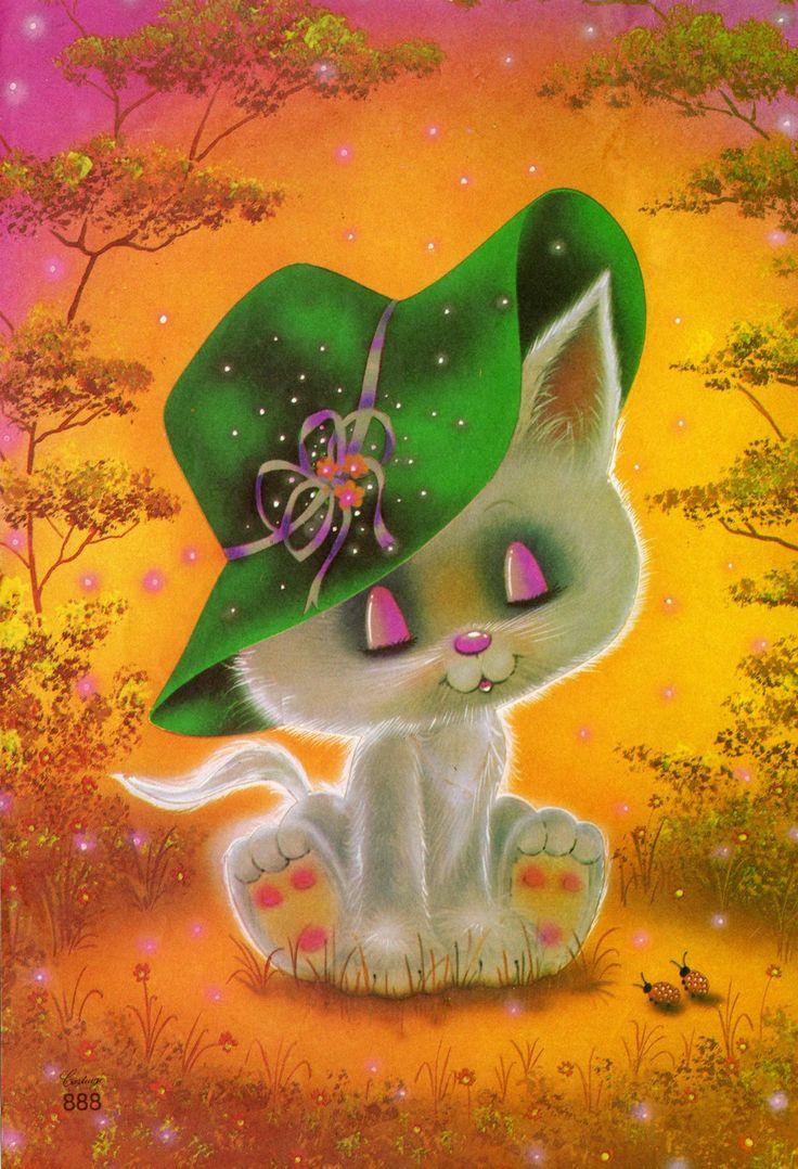 #Cartiuge 888 #papeldecarta #infancia #paperletter #kitten #cat #vintage #childhood