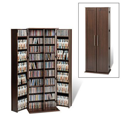 Prepac Furniture Locking Multimedia Storage Cabinet with Shaker Doors