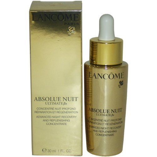 Lancome Absolue Nuit Ultimate BX Advanced Night Recovery, 1 Ounce by Lancome. $100.38. This serum contains concentrated pro-xylane to combat aging. Boosts skin regeneration at night for self-healing. Replenishes moisture and fortifies cell renewal on skin surface. Diminishes appearance of fine lines and wrinkles.