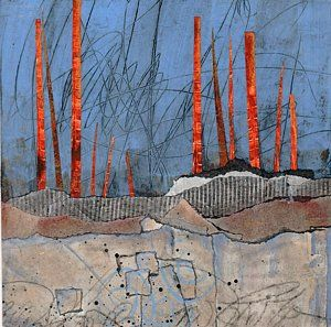Abstract Landscape Mixed Media - Last Days Of Winter by Laura  Lein-Svencner
