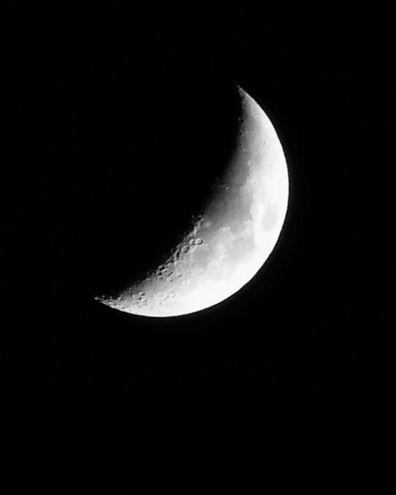 Crescent Moonlunar Photography Crescent Moon Moon Etsy In 2020 Moon Photography Black And White Aesthetic Black And White Pictures