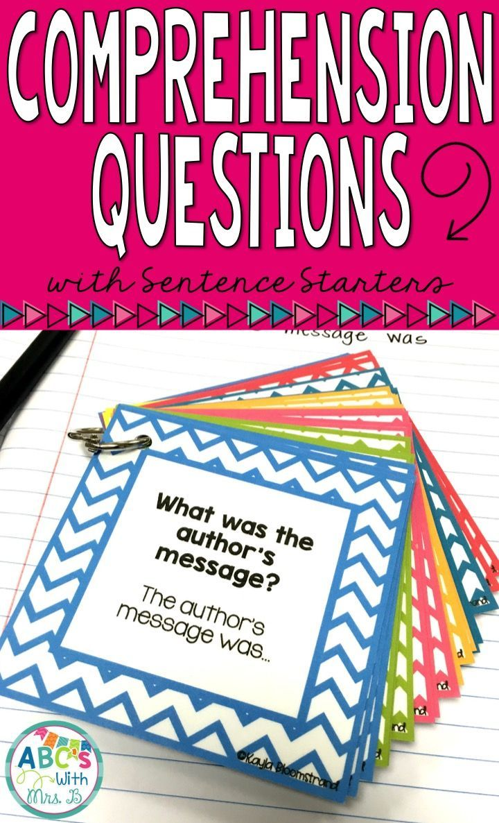 These comprehension questions are a great way to get students writing about their reading independently. The cards provide sentence starters to get students writing about their topic using complete sentences. There are a wide variety of comprehension questions included.
