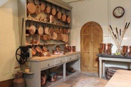 victorian kitchen photos | Learning to work in a Victorian Kitchen at Powderham Castle | The ...