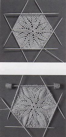 Салфетки спицами.Схемы