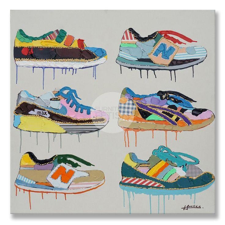 Sneaker Shoe Oil Canvas 90cm x 90cm