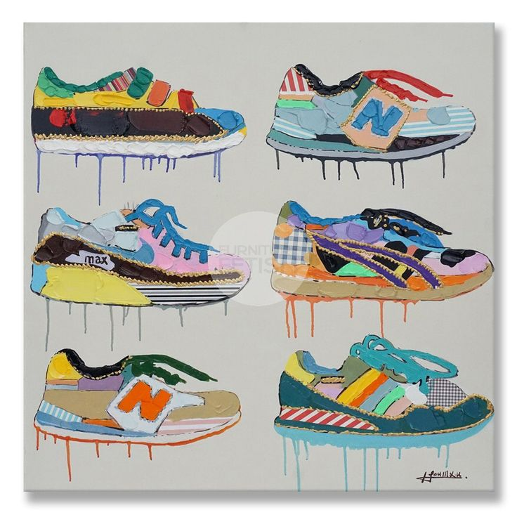 Sneaker Shoe Oil Canvas 90cm x 90cm