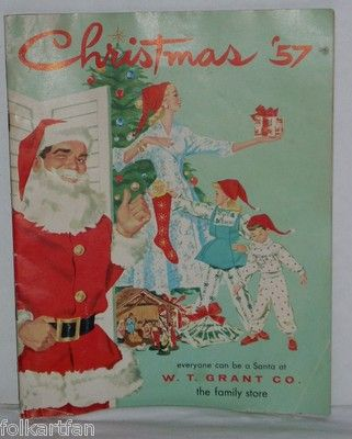 Vintage Christmas Catalog Catalogue Grants 1957 WT Grant