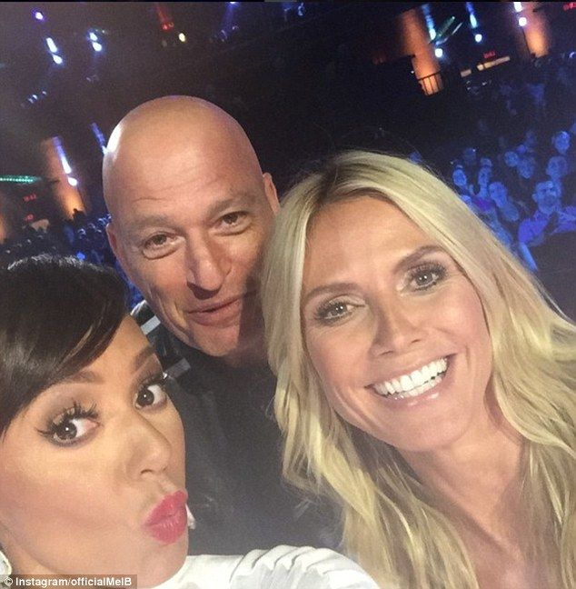 'About to go live': Mel shared this playful snap of her with fellow AGT judges Heidi Klum ...