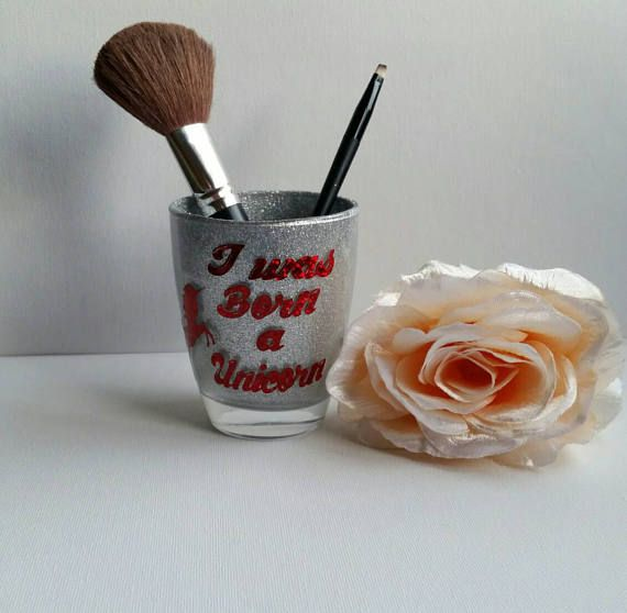 Check out this item in my Etsy shop https://www.etsy.com/uk/listing/522433843/unicorn-makeup-brush-holder-teenagers