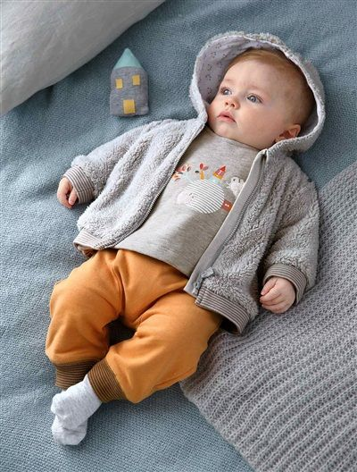 Gilet imitation fourrure bébé nouveau né GRIS CLAIR - vertbaudet enfant