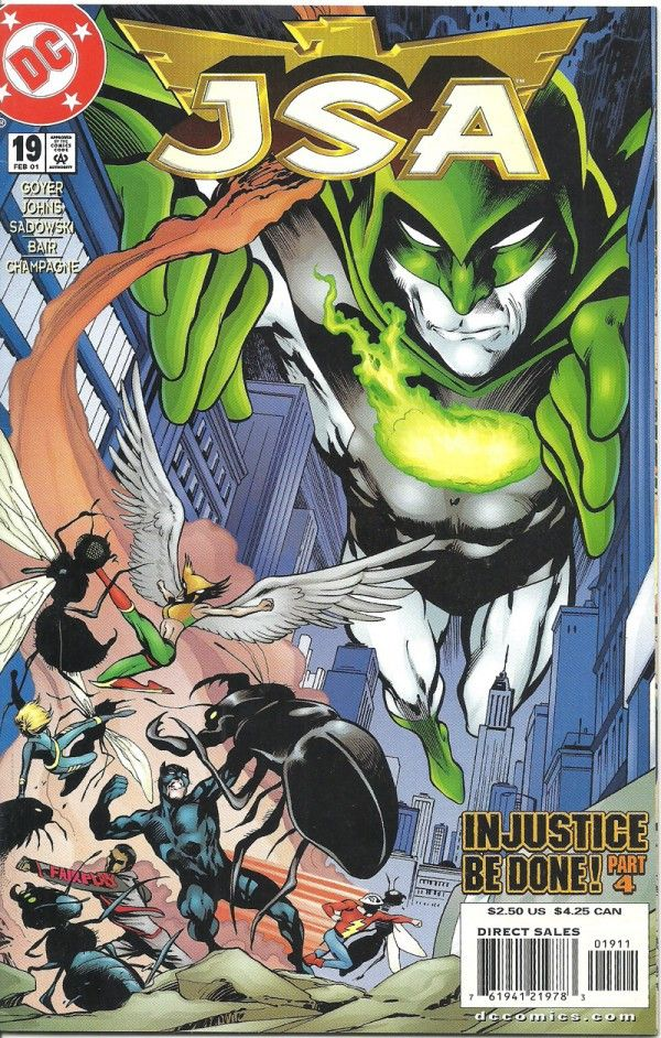 "JSA IN JUSTICE BE DONE PART 4 (1999-2006) #19 (DC Comics) - oComics  Johnny Sorrow accomplished the unthinkable: he's unleashed the dreaded King of Tears. With Sentinel in critical condition and Dr. Fate missing, how will the JSA prevail? ""Injustice Be Done"" part 4.  Read Now: http://ocomics.com/product-category/comics/dc-comics/  #dc #comics #online #ocomics #JSA"