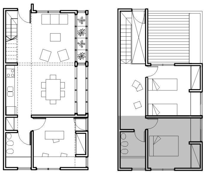 Planos vivienda de interes social buscar con google for Planos arquitectonicos de casas