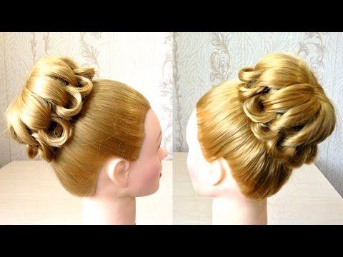 Пучок из волос на средние волосы Плетение волос Видео урок 4 Easy messy hair bun - YouTube