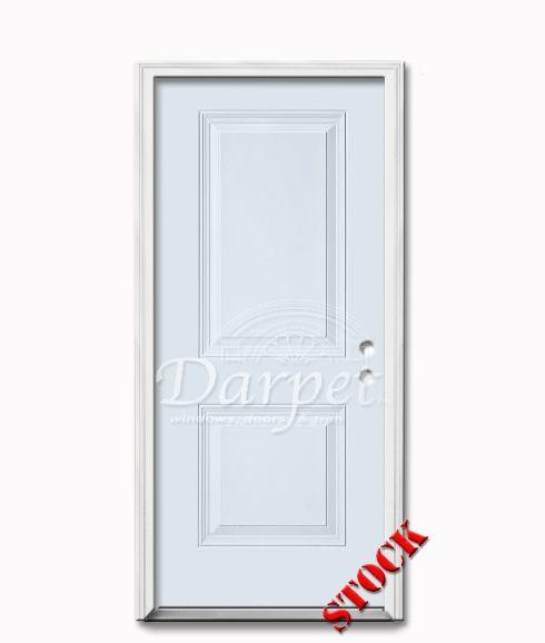 2 Panel Square Steel Exterior Door 7-0 | Darpet Interior Doors for Chicago Builders