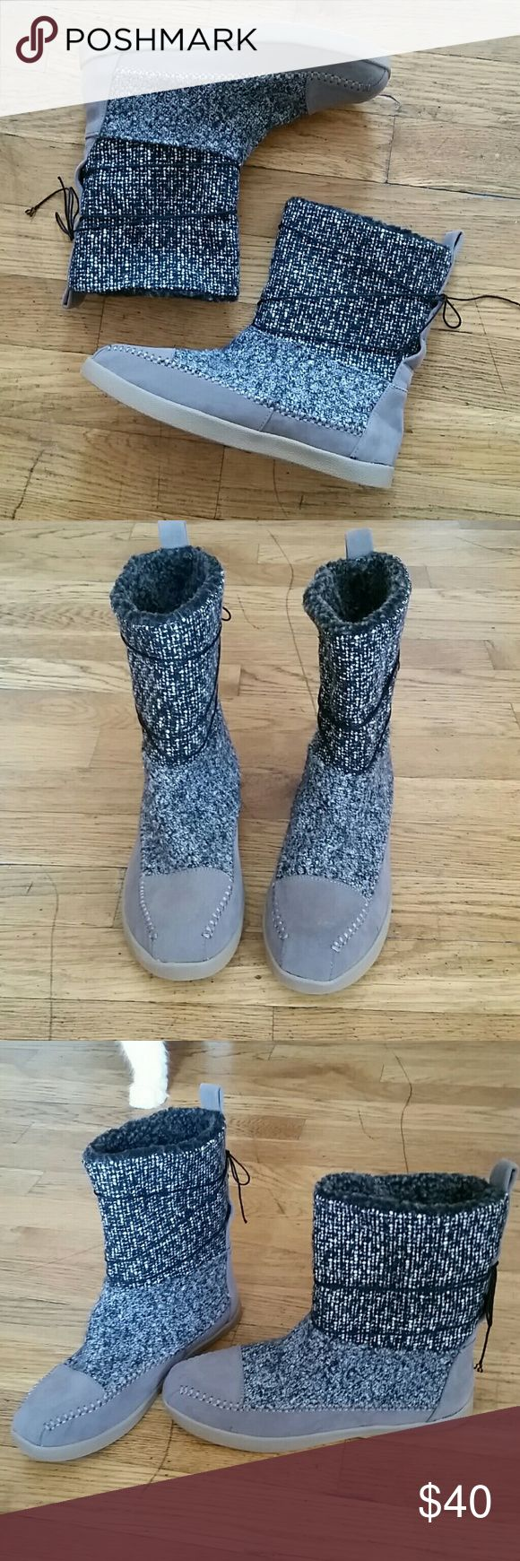New Madden Girl sweater mocassin boots sz 6 New without box Madden Girl mocassin boots. Beautiful sweater material with a fleece lining inside. Madden Girl Shoes Ankle Boots & Booties