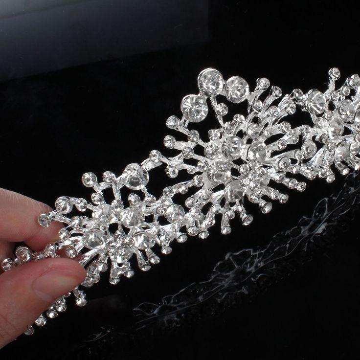 Bride Rhinestone Pearl Crown Necklace Earrings Bridal Wedding Jewelry Set Dress Accessories