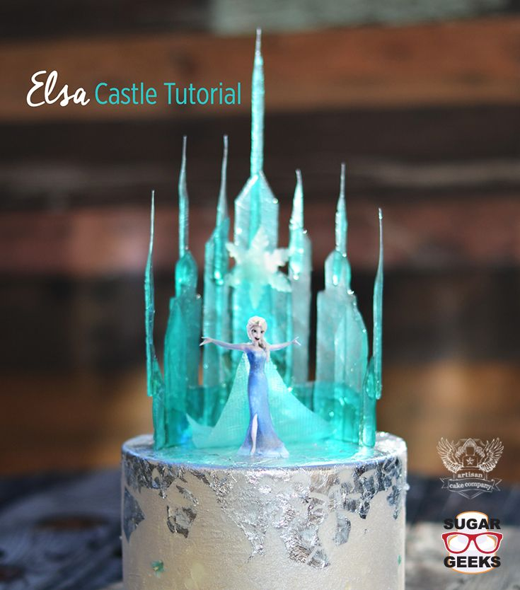 How to make a Frozen style castle out of isomalt. Looks great with the Free Elsa topper tutorial!