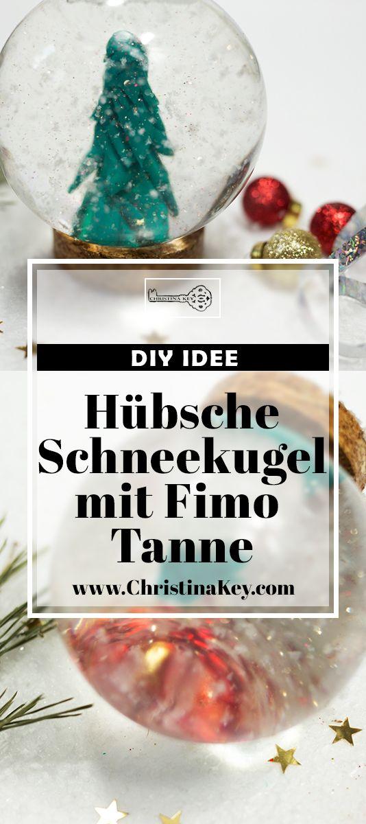 DIY Idee für Weihnachten & als Geschenk - Hübsche Schneekugel mit Tanne und Glitzer - Das perfekte DIY Projekt für die ganze Familie! Jetzt entdecken auf CHRISTINA KEY - dem Fotografie, Blogger Tipps, Rezepte, Mode und DIY Blog aus Berlin, Deutschland