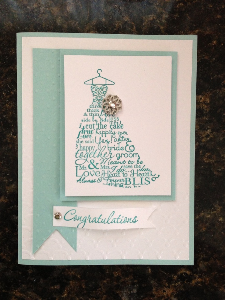 words to write in wedding shower card%0A Stampin up bridal shower card