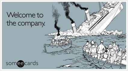 Funny Workplace Ecard: Welcome to the company.