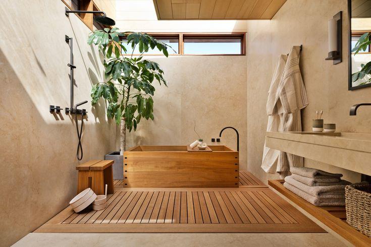 A Former Beach Motel in Malibu Is Reborn as the Japanese-Inspired Nobu Ryokan - Dwell #travel #bathroom