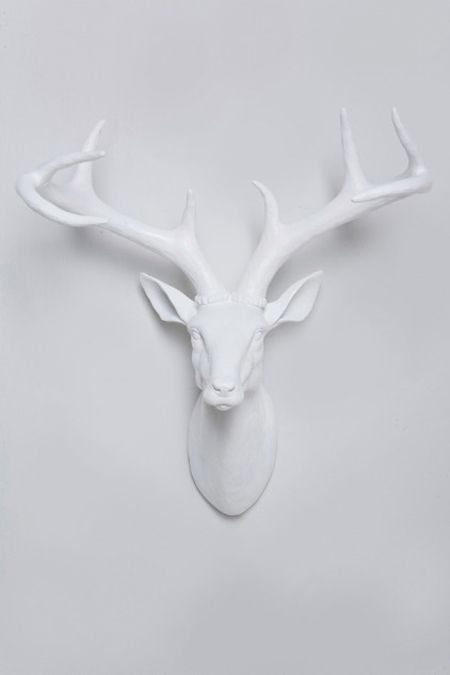 paper-mache wall Deer head