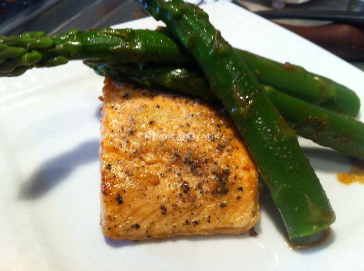 Receta de Salmon al ajillo con esparragos