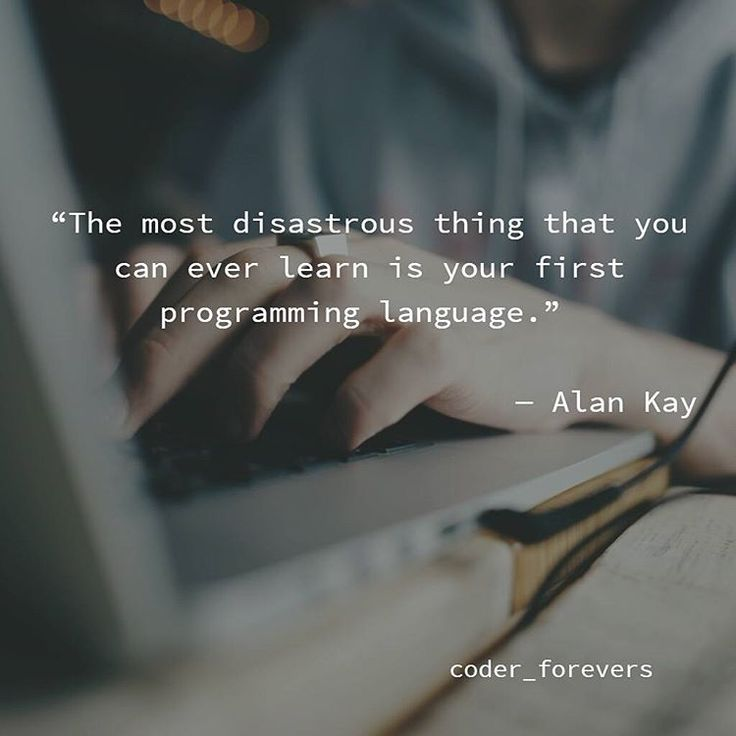 the most disastrous thing that you can ever learn is programming language follow