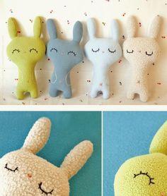 Doudous lapins trop mimis #doudou #enfant