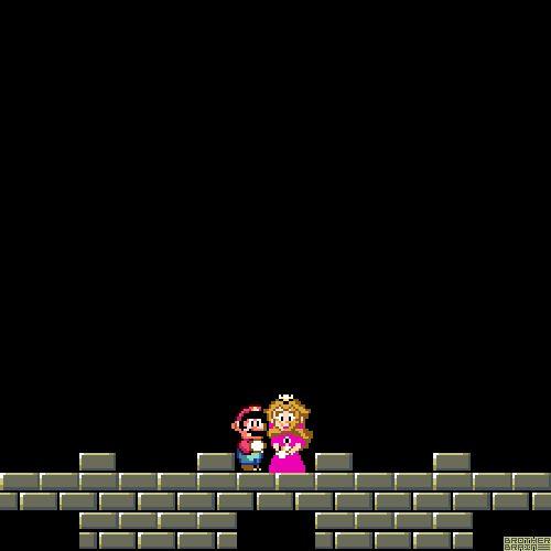 True LovebyBrother Brain/John McGregor/ http://www.brotherbrain.com/  Super Mario World (SNES) Nintendo 1991. (Animated GIF - click through to see it.)