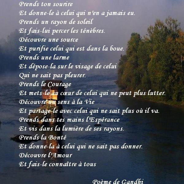 magnifique poème de GANDHI
