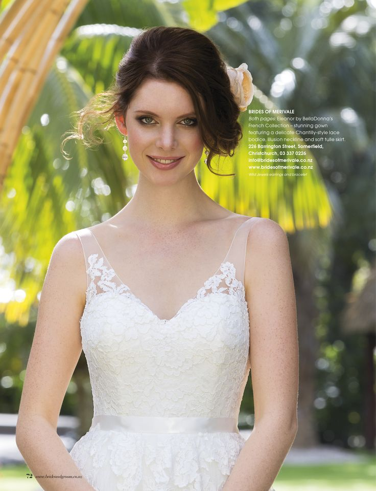 Pearl and crystal earrings as featured in the latest Bride and Groom magazine - Issue 85 Jul - Sep 2015. Gorgeous!