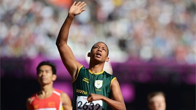 Dyan Buis of South Africa celebrates
