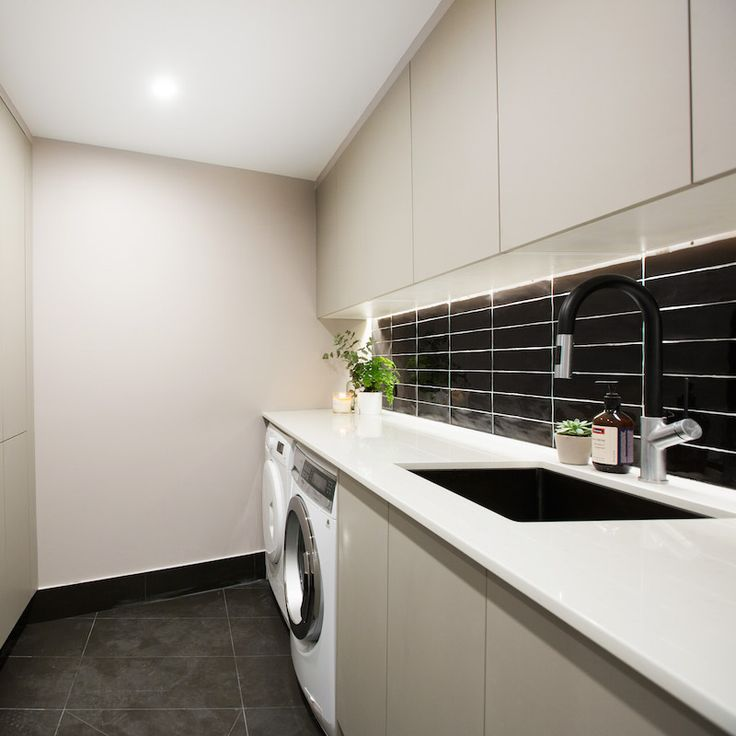 Luke and Ebony Room 5 | Study, Laundry and Powder #theblock #theblockshop #laundry