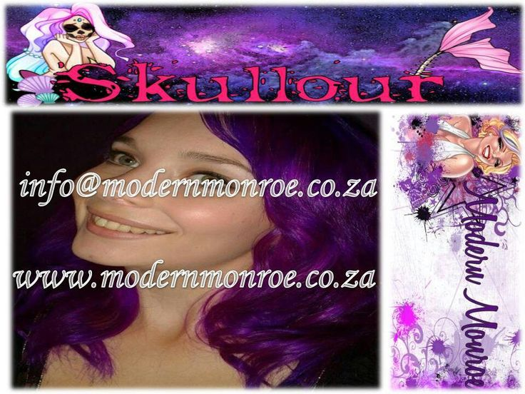 Neon purple Skullour hair dye. Skullour is a vegan friendly, cruelty free product that delivers long lasting beautiful results. For more info http://www.modernmonroe.co.za/index.php/online-shop/category/view/2