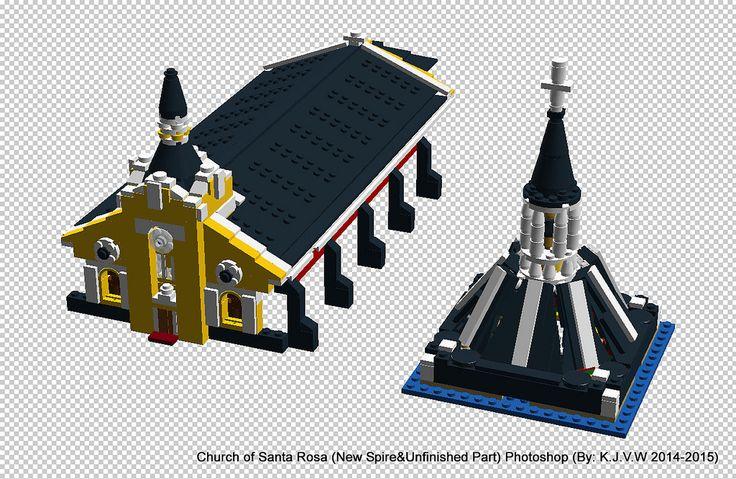 https://flic.kr/p/BUDiWC | Church of Santa Rosa (New Spire&Unfinished Part)