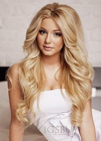 Youthful Fascinating Sexy Long Curly Lace Front Wig 100% Real Human Hair About 22Inches