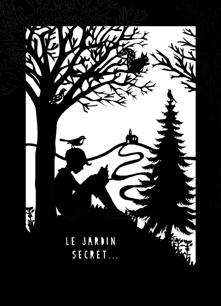 The Secret Garden paper cut Hélène DRUVERT