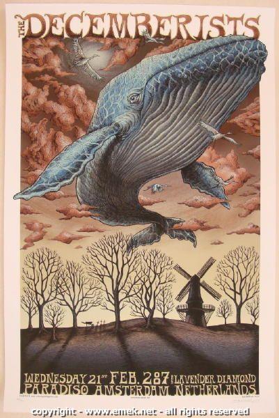 2007 The Decemberists - Silkscreen Concert Poster by Emek