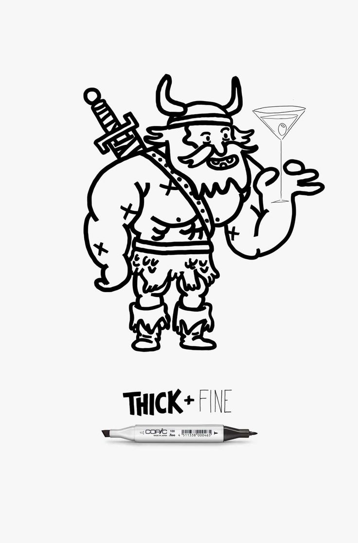 Copic Thick + Fine: Viking