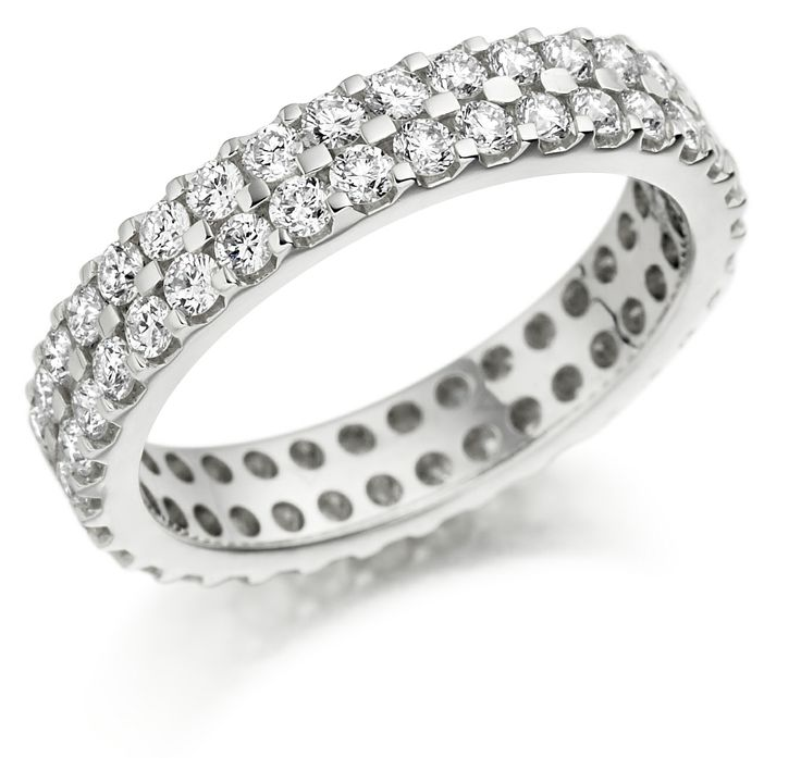 Miore Eternity Ring, 18 ct White Gold Diamond Eternity Ring, 1/3 carat Diamond Weight