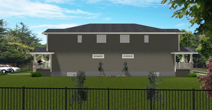 22 best 3 br townhouse plan images on pinterest terraced for Cost to build 4 plex