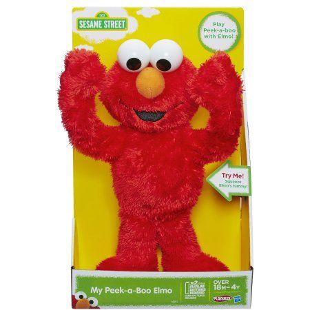 Playskool Sesame Street My Peek-a-Boo Elmo Toy, Multicolor