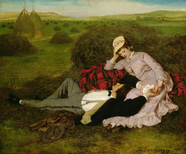 The Lovers by Pal Szinyei Merse