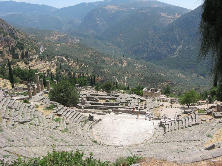 Delphi. The theatre.