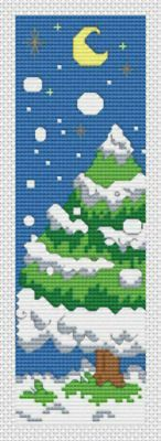Winter Bookmark - Christmas cross stitch pattern designed by Tracy Warrington. Category: Bookmarks.