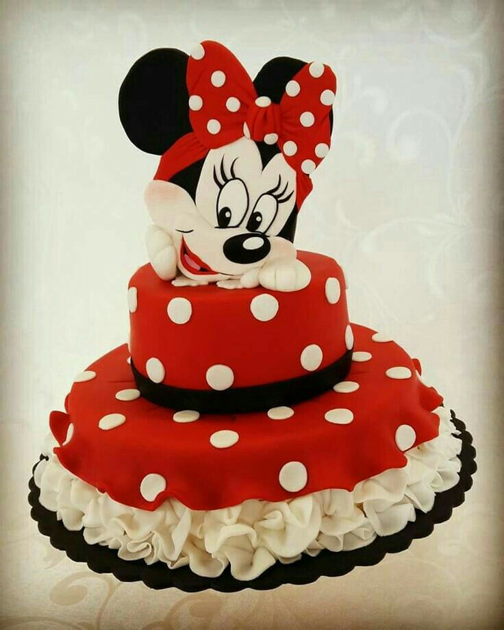 Wondrous Pin By Eman On Cake 2 Minnie Mouse Birthday Cakes Minnie Mouse Cake Funny Birthday Cards Online Overcheapnameinfo