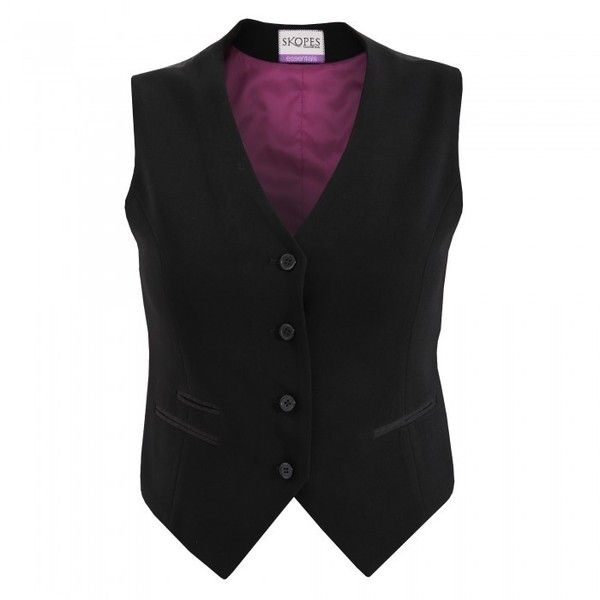 Skopes Womens/Ladies Nina Formal Business Waistcoat ($41) ❤ liked on Polyvore featuring outerwear, vests, waistcoat vest, formal vest, skopes and formal waistcoat