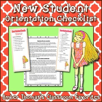 """Getting a new student can be stressful for the child AND the teacher. And the last thing you want to do is make a new student feel unwelcomed. So ease your stress with a task list for those mornings when the secretary or principal tells you, """"By the way, you're getting a new student this morning."""" That way you can greet your new student with a warm smile, welcome, and everything they need to get off to a good start. Currently FREE!"""