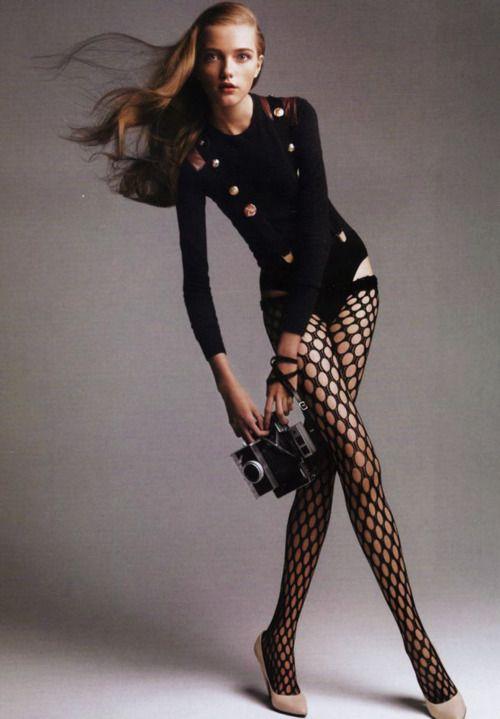 Vlada Roslyakova/Vogue Paris November 2005   <3 these thigh highs!